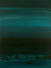 Seascape Night Contemporary Landscape Like Pebbles Anne Cherubim.jpg
