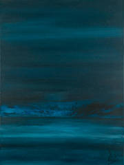 Painting Teal Blue Contemporary Landscape Cherubim Night.jpg